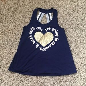 Girls graphic size M tank shirt